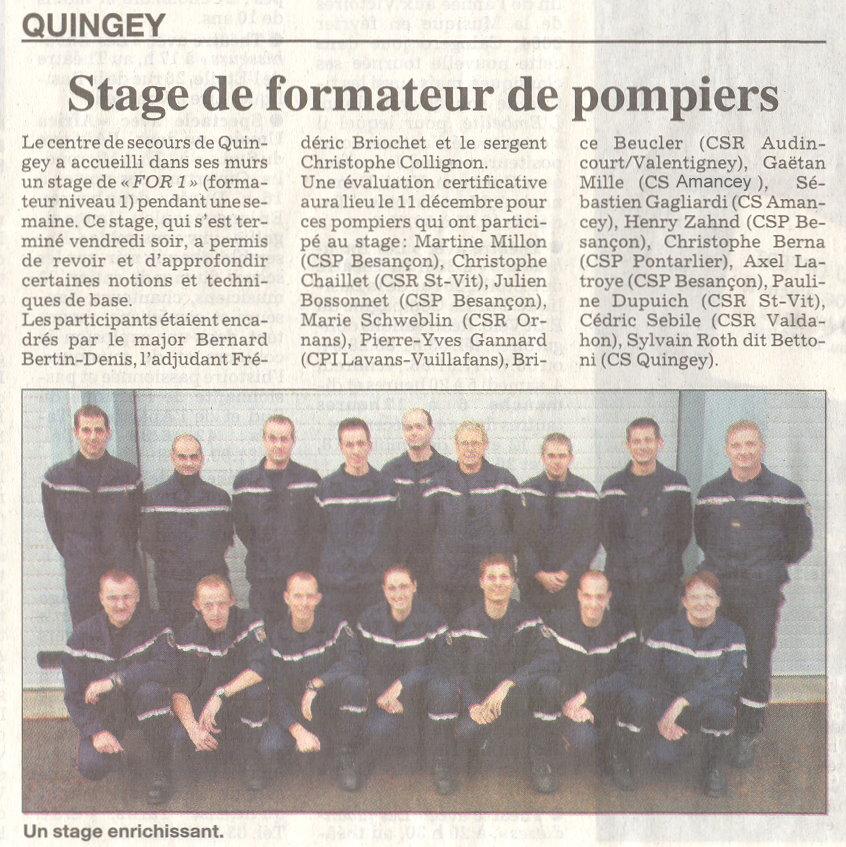 ER - Grand Besançon - Quingey. - Sapeurs-Pompiers Pontarlier